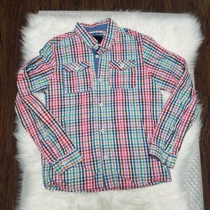 Bench | Long Sleeve Plaid Multicolor Button Front